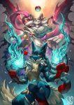 asriel_dreemurr crossover highres lucario mega_lucario mega_pokemon pokemon pokemon_(creature) red_eyes sa-dui undertale