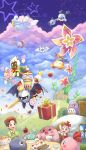 absurdres adeleine amripo angel_wings apple bandanna black_eyes bow bowtie brown_hair cake candle candy character_request chuchu_(kirby) clouds coat coo_(kirby) cup dark_meta_knight flower food fork fruit galacta_knight gift gloves gooey hair_ribbon happy_birthday highres hill house king_dedede kirby kirby's_dream_land_2 kirby's_dream_land_3 kirby's_epic_yarn kirby_(series) kirby_64 kirby_super_star lollipop mask maxim_tomato meta_knight pink_hair plant plate polearm prince_fluff ribbon ribbon_(kirby) rick_(kirby) shield ship spear star sword teacup vines waddle_dee watercraft weapon white_gloves wings yellow_eyes