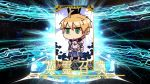 1boy ahoge armor blonde_hair card fake_screenshot fate/grand_order fate/prototype fate_(series) green_eyes jitome parody riyo_(lyomsnpmp)_(style) saber_(fate/prototype) servant_card_(fate/grand_order) short_hair solo
