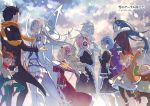 >o< 3boys 6+girls arm_up arms_up beatrice_(re:zero) black_hair black_legwear blank_eyes blonde_hair blue_hair closed_eyes coat crossed_arms dress drill_hair earmuffs emilia_(re:zero) eye_contact floating_hair fur_trim gloves green_pants grey_hair grin hair_ribbon hands_clasped hat highres long_hair looking_at_another lucas_(re:zero) maid mildo_(re:zero) mini_hat miniskirt multiple_boys multiple_girls natsuki_subaru ootsuka_shin'ichirou orange_hair orange_scarf outdoors pants petra_leyte pink_hair pink_ribbon pleated_skirt pointy_ears puck_(re:zero) ram_(re:zero) re:zero_kara_hajimeru_isekai_seikatsu red_dress red_eyes red_ribbon rem_(re:zero) ribbon roswell_l._mathers scarf short_hair skirt smile snow snow_sculpture snowing standing striped striped_legwear striped_ribbon tears thigh-highs twin_drills twintails white_gloves white_legwear white_skirt wilhelm_(re:zero) zettai_ryouiki