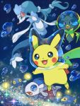 bubble chinchou dewpider lanturn pikachu pokemon pokemon_(game) pokemon_sm primarina sen_pic wishiwashi