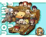 6+girls aki_(girls_und_panzer) alternate_vehicle anchovy ankle_boots anzio_(emblem) bangs bird black_hair black_neckerchief black_ribbon black_shirt blonde_hair blouse blue_boots blue_hat blue_jacket blue_skirt boots brown_hair bt-42 carpaccio carro_veloce_cv-33 chaki_(teasets) chibi closed_eyes closed_mouth commentary_request drill_hair duck emblem english fan folding_fan girls_und_panzer goggles goggles_on_headwear green_hair grey_jacket grin ground_vehicle gym_shirt hair_ribbon hairband hat helmet highres holding holding_instrument instrument isobe_noriko jacket jagdpanzer_38(t) kadotani_anzu kantele kawanishi_shinobu kawashima_momo keizoku_(emblem) kondou_taeko koyama_yuzu light_brown_hair light_smile long_hair long_sleeves looking_at_another looking_back mecha mika_(girls_und_panzer) mikko_(girls_und_panzer) military military_uniform military_vehicle monocle motor_vehicle multiple_girls neckerchief no_pupils ooarai_school_uniform open_mouth oversized_object pepperoni_(girls_und_panzer) potato raglan_sleeves redhead ribbon romaji rubber_duck sasaki_akebi school_uniform serafuku shirt short_hair short_ponytail short_twintails shouting sitting skirt sleeveless sleeveless_shirt smile sportswear sweatdrop tank track_jacket turtle twin_drills twintails type_89_i-gou uniform volleyball volleyball_uniform white_blouse white_hairband