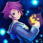 1girl blue_eyes breasts dress hood hoodie kumatora looking_at_viewer mother_(game) mother_3 nanamako pink_hair short_hair smile solo star