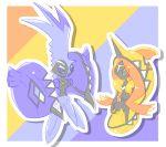 1boy 1girl color_switch pokemon pokemon_(creature) pokemon_(game) pokemon_sm tapu_fini tapu_koko