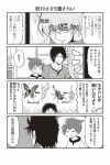 3boys 4koma ahoge beetle butterfly comic greyscale monochrome multiple_boys open_mouth original shouma_keito sparkle sweat television trembling