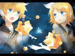 blonde_hair chibi kagamine_len kagamine_rin short_hair twins vocaloid