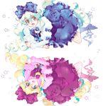 awa-san awa_(awaawa) bow curly_hair dress gothic_lolita hair_bow lolita_fashion multicolored_hair nia_teppelin smile star stars tengen_toppa_gurren_lagann