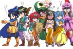 4boys 4girls alena_(dq4) alena_(dq4)_(cosplay) brey brey_(cosplay) clift clift_(cosplay) cosplay dragon_quest dragon_quest_iv happosai hero_(dq4) hero_(dq4)_(cosplay) heroine_(dq4) heroine_(dq4)_(cosplay) hibiki_ryouga highres kuonji_ukyou manya manya_(cosplay) minea minea_(cosplay) mousse multiple_boys multiple_girls ranma-chan ranma_1/2 ryan_(dq4) ryan_(dq4)_(cosplay) saotome_ranma shampoo_(ranma_1/2) tendou_akane translation_request