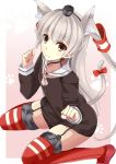 1girl amatsukaze_(kantai_collection) animal_ears cat_ears cat_tail kantai_collection solo tail youkan_(mattya_youkan)