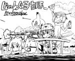 animal_ears apocalypse_now arrow assault_rifle explosive facial_hair grenade gun helmet jaguar_(kemono_friends) jaguar_ears kaban kemono_friends lucky_beast_(kemono_friends) m16 machine_gun military military_uniform multiple_girls mustache otter_ears rifle sailing short_hair small-clawed_otter_(kemono_friends) smoke_grenade tail takanaga_kouhei translation_request uniform vietnam weapon