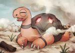 claws crescentia desert fang pokemon pokemon_(game) pokemon_rse smoke tears torkoal tortoise turtle wood