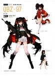 1girl absurdres belt black_gloves black_hair black_panties boots boots_holster brown_eyes buttons cape china_dress chinese_clothes closed_mouth dress eyebrows eyebrows_visible_through_hair fingerless_gloves full_body girls_frontline gloves gun hair_between_eyes hair_ribbon highres holding holding_gun holding_weapon holster kishiyo long_hair long_twintails looking_at_viewer necktie official_art one_eye_closed open_mouth panties personification pleated_skirt qbz-97 qbz-97_(girls_frontline) red_ribbon ribbon side-tie_panties skirt smile solo standing star strap string_panties thigh-highs trigger_discipline twintails underwear very_long_hair weapon white_legwear