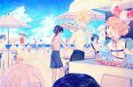 6+boys :d aizen_kunitoshi akashi_kuniyuki beach beach_umbrella beach_volleyball black_hair blonde_hair blue_eyes brown_hair cooking food glasses green_eyes hair_over_one_eye hat heshikiri_hasebe horikawa_kunihiro hotarumaru izumi-no-kami_kanesada japanese_clothes kashuu_kiyomitsu male_focus male_swimwear metro_(metro000) multiple_boys mutsu-no-kami_yoshiyuki ookurikara open_mouth orange_hair plate ponytail redhead shirtless shishiou shokudaikiri_mitsutada sitting smile stool sun_hat swim_trunks swimwear table touken_ranbu tray tsurumaru_kuninaga umbrella urashima_kotetsu violet_eyes volleyball_net water white_hair yamato-no-kami_yasusada yellow_eyes