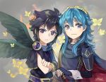 1boy 1girl 2012 angel angry black_hair blue_eyes blue_hair cape cute dark_pit echo_fighter fire_emblem fire_emblem:_kakusei fire_emblem_13 fire_emblem_awakening human intelligent_systems kid_icarus kid_icarus_uprising long_hair looking_at_viewer lucina lucina_(fire_emblem) nintendo_ead palutena_no_kagami red_eyes short_hair smile sora_(company) super_smash_bros. super_smash_bros._ultimate super_smash_bros_for_wii_u_and_3ds tiara toasterkiwi wings year_connection