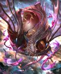 artist_request black_sclera blue_eyes claws clouds crack cygames dragon dragon_horns dragon_wings gold_trim horns jewelry liquid official_art poison ring scales see-through shadowverse shingeki_no_bahamut sky spines venomous_pucewyrm vial wings
