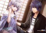 akito_shukuri norn9 purple_eyes purple_hair shiranui_nanami teita