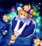 blush broom doll dolls hanazuka_ryouji hat kirisame_marisa long_hair nyanya ribbon ribbons star stars touhou witch yellow_eyes