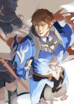 2boys armor back-to-back breastplate fire_emblem fire_emblem:_kakusei frederik_(fire_emblem) highres krom looking_at_viewer multiple_boys pauldrons traditional_media watercolor_(medium)