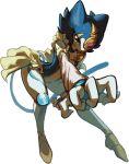 1girl artist_request blue_hair duel_monster female lunalight_blue_cat mask solo white_background yuu-gi-ou yuu-gi-ou_arc-v
