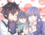 blue_hair fairy_tail family father_and_son female gray_fullbuster juvia_loxar male mother_and_son short_hair spiky_hair