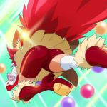 1girl ass bike_shorts boots cure_chocolat dog_tail from_behind gloves haruyama_kazunori kenjou_akira kirakira_precure_a_la_mode magical_girl precure red_boots red_shorts redhead short_hair shorts skirt solo tail thigh-highs white_gloves white_legwear