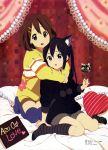 2girls absurdres feet highres hirasawa_yui horiguchi_yukiko k-on! megami multiple_girls nakano_azusa no_shoes official_art scan socks valentine