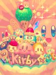 1boy adeleine bellhenge bird blue_eyes cake candy character_request crown food king_dedede kirby kirby's_return_to_dream_land kirby_(series) kirby_64 kirby_super_star mask meta_knight open_mouth pinguin smile solo waddle_dee waddle_doo