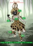 1girl animal_ears blonde_hair boots commentary dress e.o. elbow_gloves fallout_4 gas_mask gloves hammer health_bar highres kemono_friends looking_at_viewer parody serval_(kemono_friends) serval_ears serval_tail short_hair solo tail thigh-highs