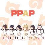 6+girls alpaca_suri_(kemono_friends) black_hair blush_stickers boots brown_hair chibi closed_eyes emperor_penguin_(kemono_friends) gentoo_penguin_(kemono_friends) humboldt_penguin_(kemono_friends) japari_symbol kemono_friends multicolored_hair multiple_girls namesake open_mouth orange_hair oyatsu_(mk2) pawoo_username pen-pineapple-apple-pen penguins_performance_project_(kemono_friends) pink_hair rockhopper_penguin_(kemono_friends) royal_penguin_(kemono_friends) thigh-highs twitter_username two-tone_hair white_hair white_legwear