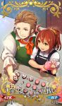 1boy 1girl :p ahoge alternate_hairstyle apron beard brown_eyes brown_hair caster_of_red cocorosso command_spell craft_essence cupcake facial_hair fate/apocrypha fate/grand_order fate_(series) food from_above fujimaru_ritsuka_(female) hair_slicked_back licking_lips mustache orange_hair pastry_bag ponytail renaissance_clothes short_hair tongue tongue_out
