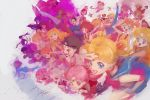 bishoujo_senshi_sailor_moon blonde_hair blossom_(ppg) blue_eyes boots breasts bubbles_(ppg) buttercup_(ppg) cape card_captor_sakura character_request chibi_usa chun-li cutie_honey cutie_honey_(character) dc_comics disney fa_mulan_(disney) ghost_in_the_shell harley_quinn haruno_sakura kasumi_(pokemon) kathmi kinomoto_sakura long_hair looking_at_viewer lupin_iii mine_fujiko mononoke_hime mulan multiple_girls nami_(one_piece) naruto nausicaa one_piece open_mouth pokemon powerpuff_girls princess_sapphire ranma_1/2 ribbon_no_kishi sailor_moon sailor_venus san shampoo_(ranma_1/2) short_hair skirt smile street_fighter supergirl superhero