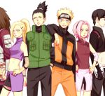 2girls 4boys akimichi_chouji black_hair blonde_hair blue_eyes downscaled forehead_protector gloves green_eyes haruno_sakura hoshino_lily long_hair md5_mismatch multiple_boys multiple_girls nara_shikamaru naruto naruto_shippuuden pink_hair ponytail resized sai short_hair uzumaki_naruto yamanaka_ino