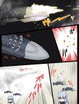 1girl bullet comic headgear highres kantai_collection launching missile missile_pod murakumo_(kantai_collection) shell_casing sleeping tsukemon