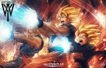 3boys blonde_hair brothers ceasar_ian_muyuela dragon_ball dragonball_z father_and_son goten kamehameha male_focus multiple_boys muscle siblings son_gohan son_gokuu spiky_hair super_saiyan