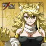 1girl akame_ga_kill! blonde_hair breasts cleavage large_breasts leone tagme takahiko