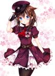 ahoge blue_eyes blush braids brown_hair dress kantai_collection long_hair personification shigure_(kantai_collection)