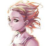 1girl choker collarbone dress hairband jojo_no_kimyou_na_bouken looking_at_viewer pink_dress pink_eyes pink_hair portrait smile solo sugimoto_reimi yoko.u