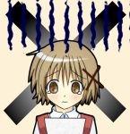 brown_hair hidamari_sketch isacoo school_uniform short_hair tears yuno