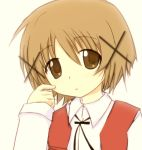 brown_hair hidamari_sketch isacoo school_uniform short_hair yuno