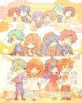 5boys 5girls ahoge alm_(fire_emblem) aqua_hair aran armor artur behind_back belt blue_eyes blue_hair blush blush_stickers book boots brown_hair cape capelet celica_(fire_emblem) chair cheek_poking chibi circlet cloak closed_eyes coma couple crossed_arms crying dress elbow_gloves fingerless_gloves fire_emblem fire_emblem:_akatsuki_no_megami fire_emblem:_fuuin_no_tsurugi fire_emblem:_seima_no_kouseki fire_emblem:_souen_no_kiseki fire_emblem_echoes:_mou_hitori_no_eiyuuou fire_emblem_heroes flower gloves green_eyes hair_between_eyes hair_flower hair_ornament hairband hands_together head_wreath headband hetero high_five holding holding_flower instrument jewelry kappaman laura_(fire_emblem) lilina long_hair looking_at_another lute_(fire_emblem) multiple_boys multiple_girls neck_ribbon neimi open_mouth orange_hair pants pendant petting piano poking purple_hair red_eyes redhead ribbon robe roy_(fire_emblem) shirt shoes short_hair short_ponytail sidelocks smile socks spiky_hair window younger