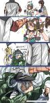 1boy 4girls 4koma absurdres admiral_(kantai_collection) bakabakasii comic hibiki_(kantai_collection) highres kaga_(kantai_collection) kantai_collection maya_(kantai_collection) multiple_girls remodel_(kantai_collection) shimakaze_(kantai_collection)