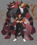 gladio_(pokemon) incineroar lillie_(pokemon) lurantis mudsdale pocket_monsters_pipipi_adventure pokemon pokemon_(creature) pokemon_(game) pokemon_sm toucannon