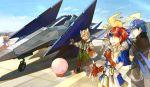 3boys aircraft airplane fire_emblem fire_emblem:_akatsuki_no_megami fire_emblem:_fuuin_no_tsurugi fire_emblem:_souen_no_kiseki fox_mccloud furry ike kirby kirby_(series) link mario_(series) multiple_boys outdoors pikachu pokemon star_fox super_mario_bros. the_legend_of_zelda vehicle