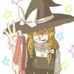 blonde_hair braid hairband hat kirisame_marisa lowres star stars torinone touhou witch_hat yellow_eyes