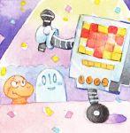 esuannte family ghost mad_dummy_(undertale) mettaton microphone napstablook no_humans robot smile stage undertale