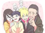 aunt_and_nephew blue_eyes blush boruto:_naruto_next_generations brother_and_sister closed_eyes family grandfather_and_grandson heart hyuuga_hanabi hyuuga_hiashi hyuuga_hinata naruto risuo siblings smile sweatdrop uzumaki_boruto uzumaki_himawari uzumaki_naruto wavy_mouth whisker_markings