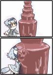 1girl chocolate_fountain commentary commentary_request curious fountain jack_and_jill_(movie) kemono_friends meme northern_white-faced_owl_(kemono_friends) seki_(red_shine)