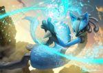 blue_fur highres lucario pocket_monsters_pipipi_adventure pokemon pokemon_(game) teru_sakura yellow_fur