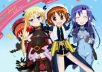 4girls awasarin bardiche bardiche_(cosplay) closed_eyes cosplay english fate_testarossa fate_testarossa_(cosplay) goshiki_agiri kill_me_baby long_hair lyrical_nanoha mahou_shoujo_lyrical_nanoha multiple_girls oribe_yasuna purple_hair sonya_(kill_me_baby) takamachi_nanoha takamachi_nanoha_(cosplay) unused_character vita vita_(cosplay)