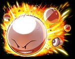 ball black_background electrode explosion foongus pokemon pokemon_(creature) voltorb
